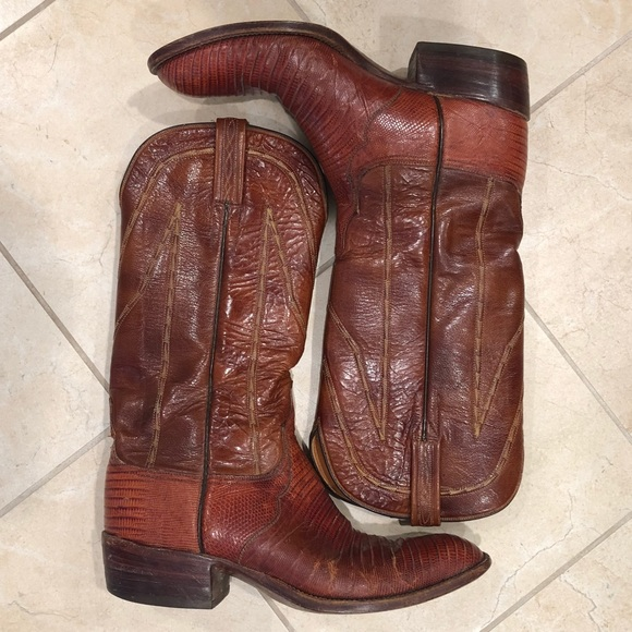dfb26103a71 Vintage Armadillo Lucchese Cowboy Boots
